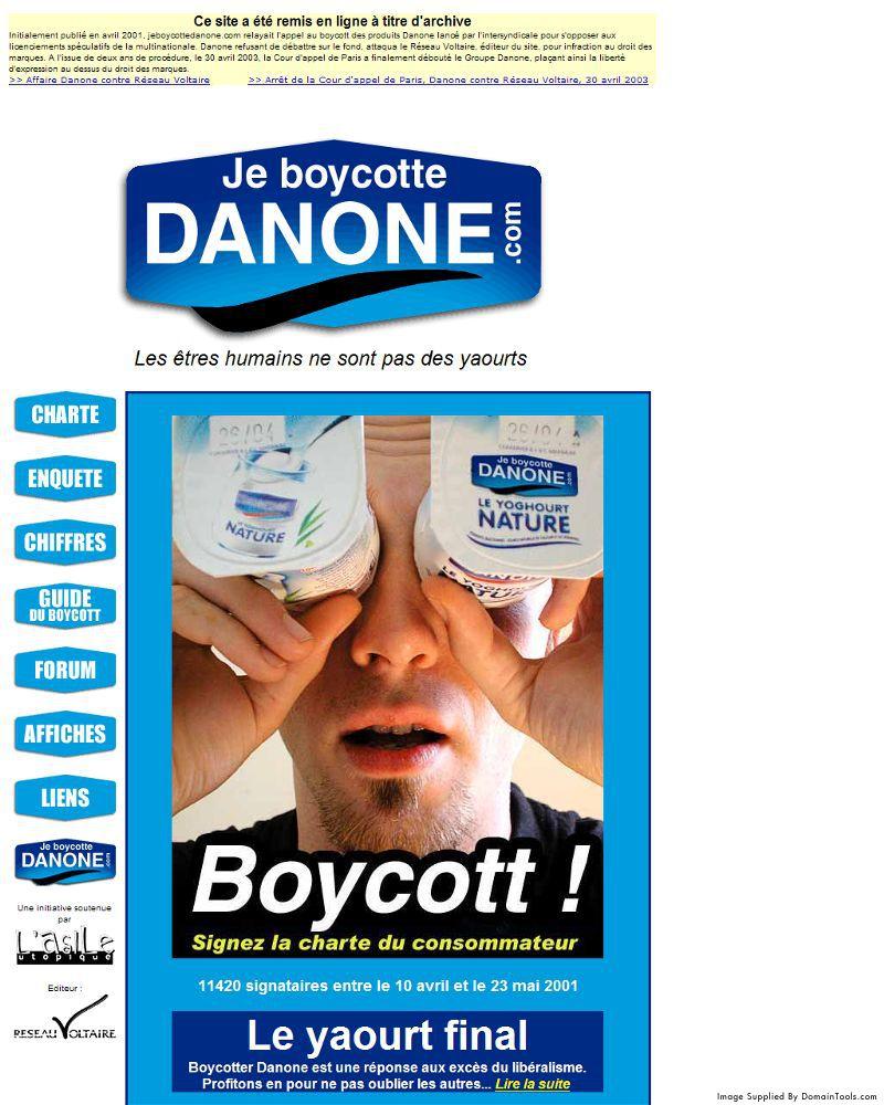 Affaire Je Boycotte Danone