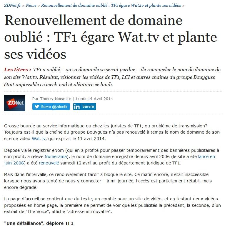 2014-04-zdnet-oubli-renouvellement-nom-domaine-wat-point-tv