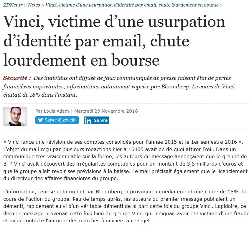 2016-11-zdnet-usurpation-identite-email-vinci-chute-bourse