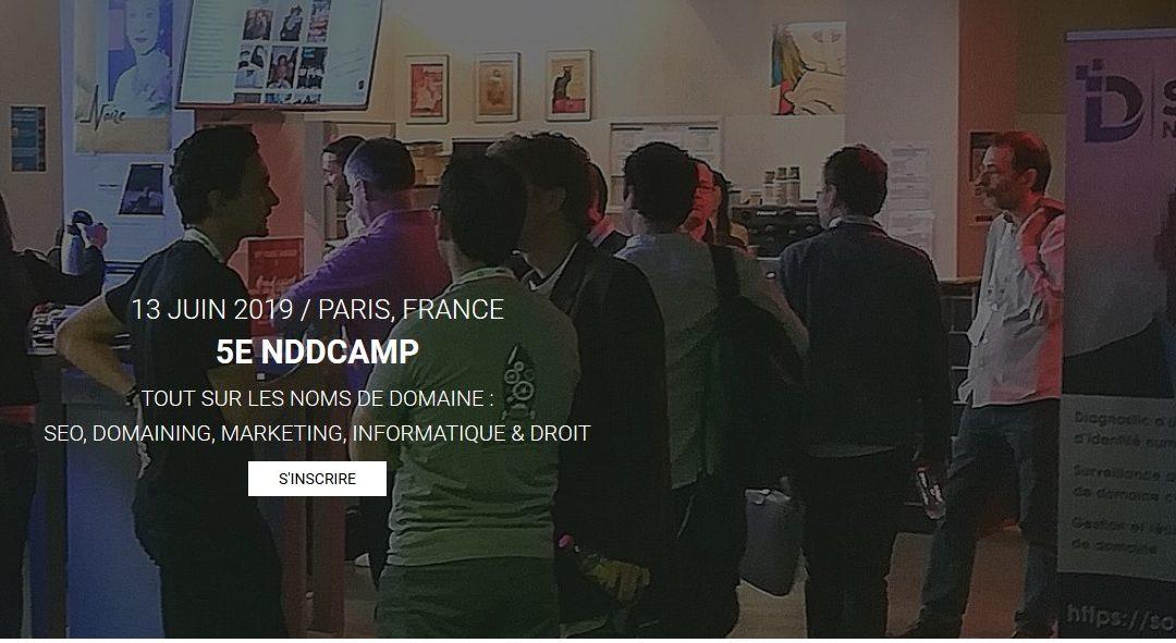 NDDCAMP, Rencontres des professionnels des noms de domaine, 13 juin 2019 à Paris