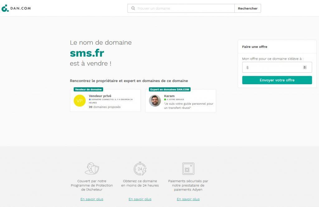 Rachat Nom Domaine DAN.COM