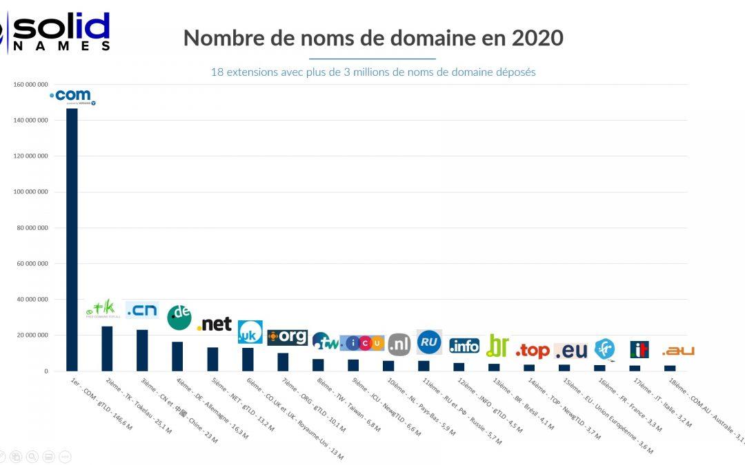 Combien existe-t-il de noms de domaine en 2020 ?