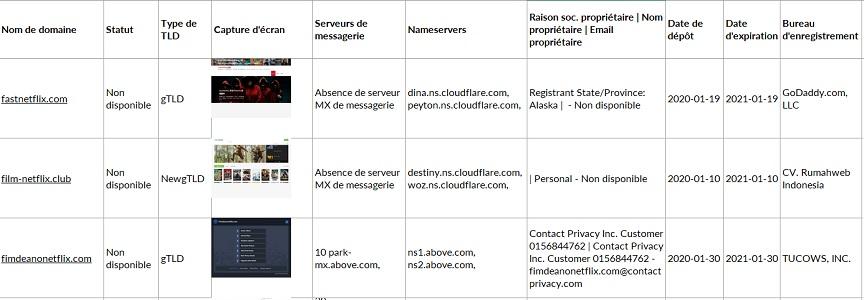 Marque audit noms de domaine