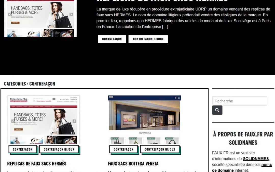 Faux.fr, site d'actualité noms de domaine